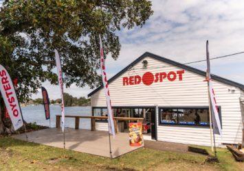Red Spot Boatshed in Forster