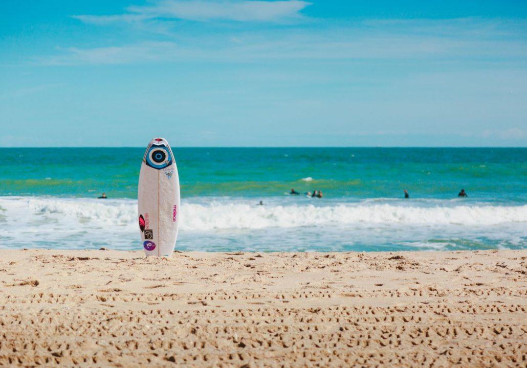 surfing surfboard on beach