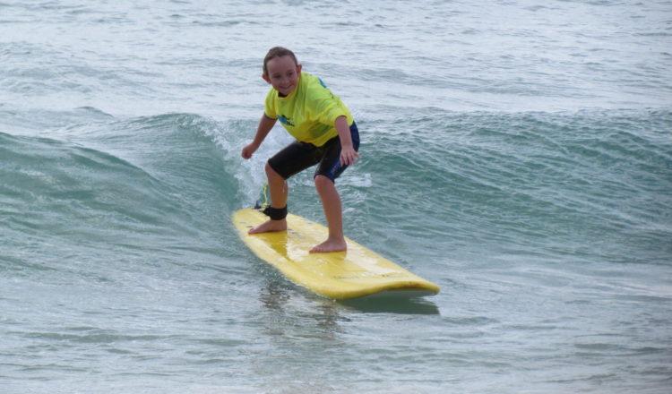 Great Lakes Surf School surfer