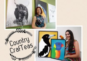 Mini Pop-up Art Exhibition Country CraftTeas