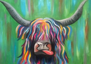 Highland Cow Painting Workshop Country CraftTeas
