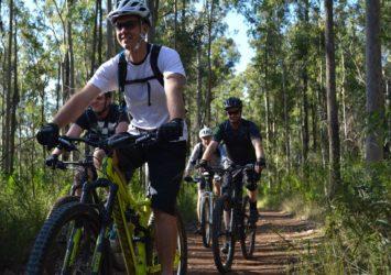 Kiwarrak mountain bikers, Kiwarrak State Forest