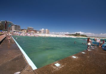 Forster Ocean baths, also known as the Bullring