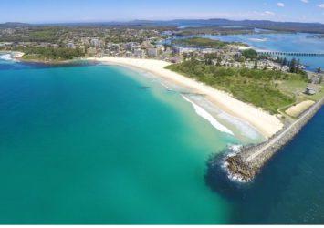 Forster Main Beach aerial