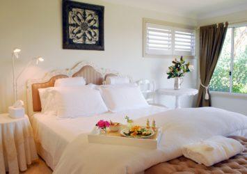 Villa Medici suite with breakfast tray
