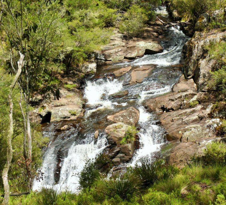 Polblue Falls, Barrington Tops, large rock falls