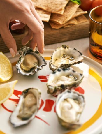 East33 Oysters delivery plate