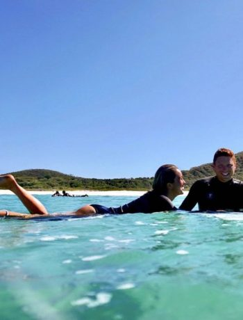 Surfing at Cellito Beach