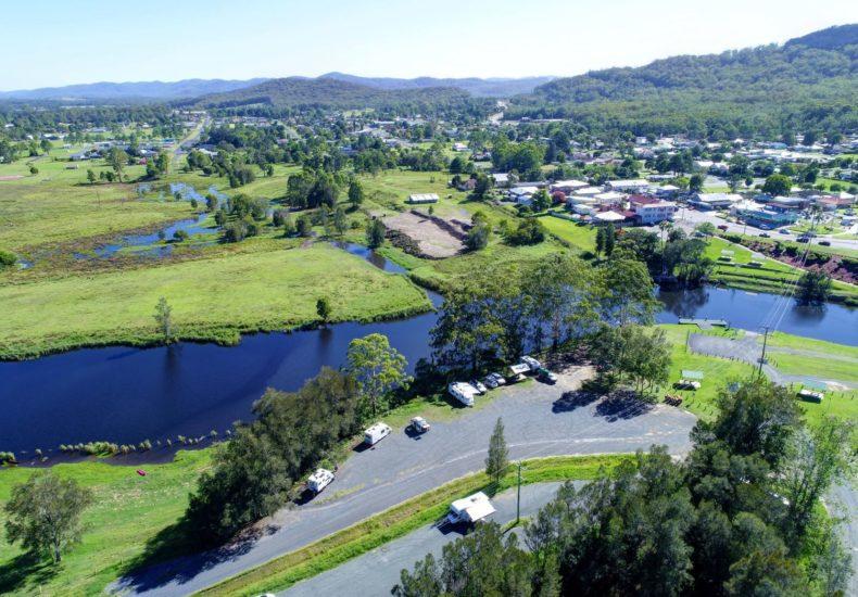 Bulahdelah Myall River aerial