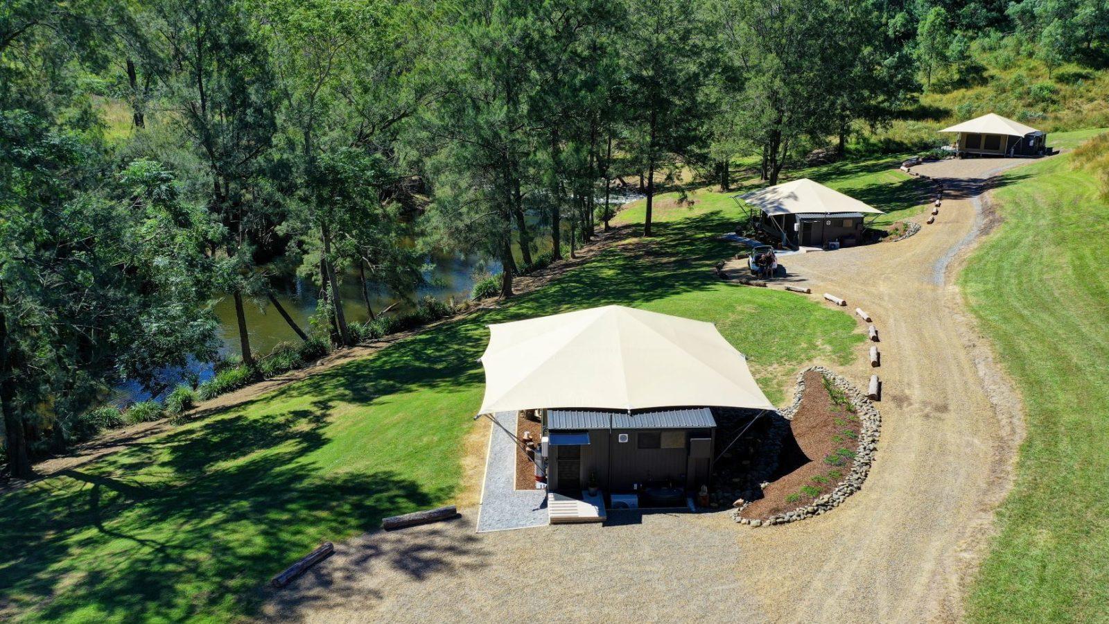 Amaroo Escape site view, hinterland accommodation