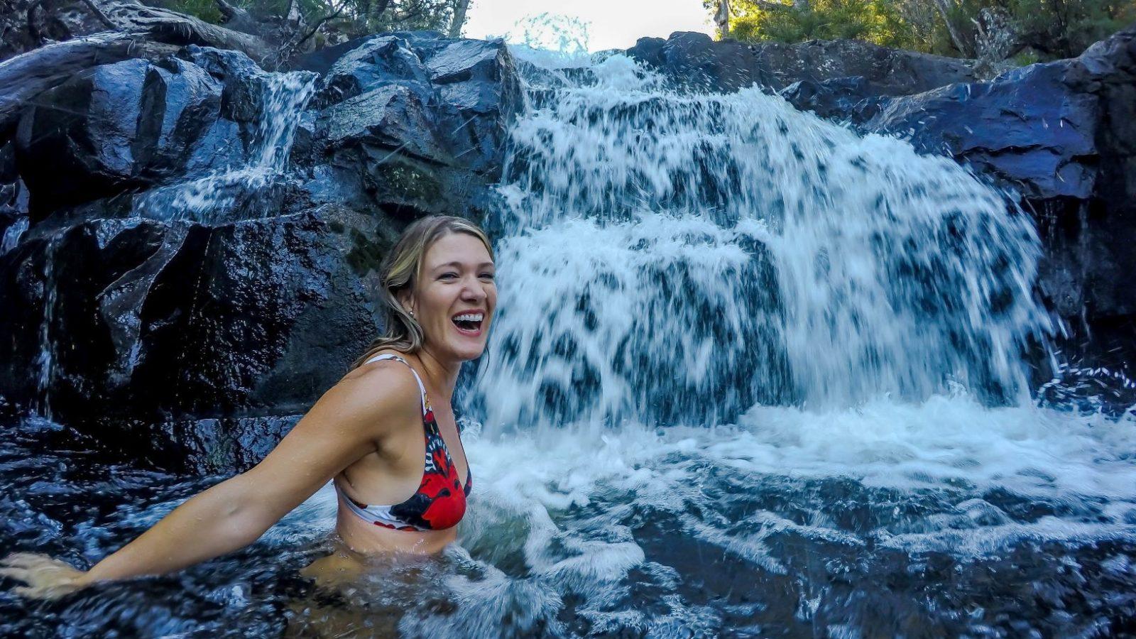 Barrington Tops waterfall swim