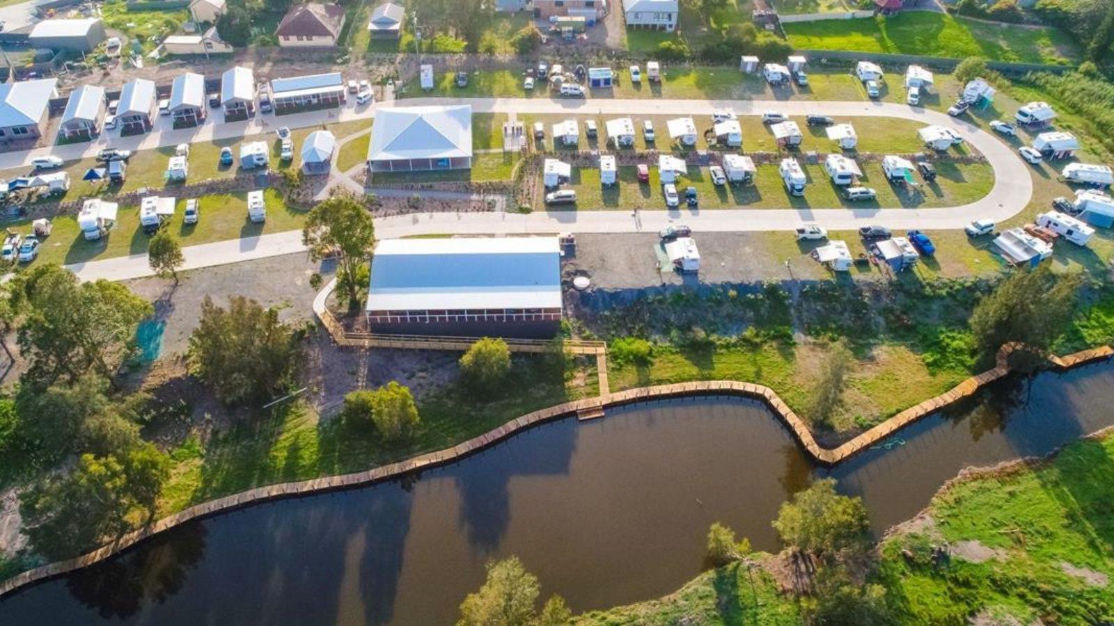 Big4 River Myall aerial