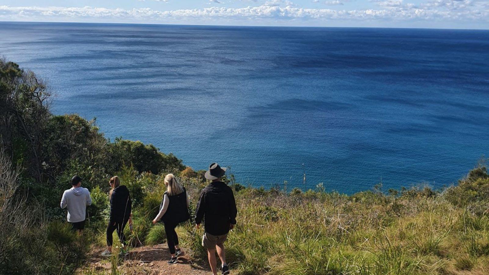 Booti Hill Walking Track picnic area ocean views