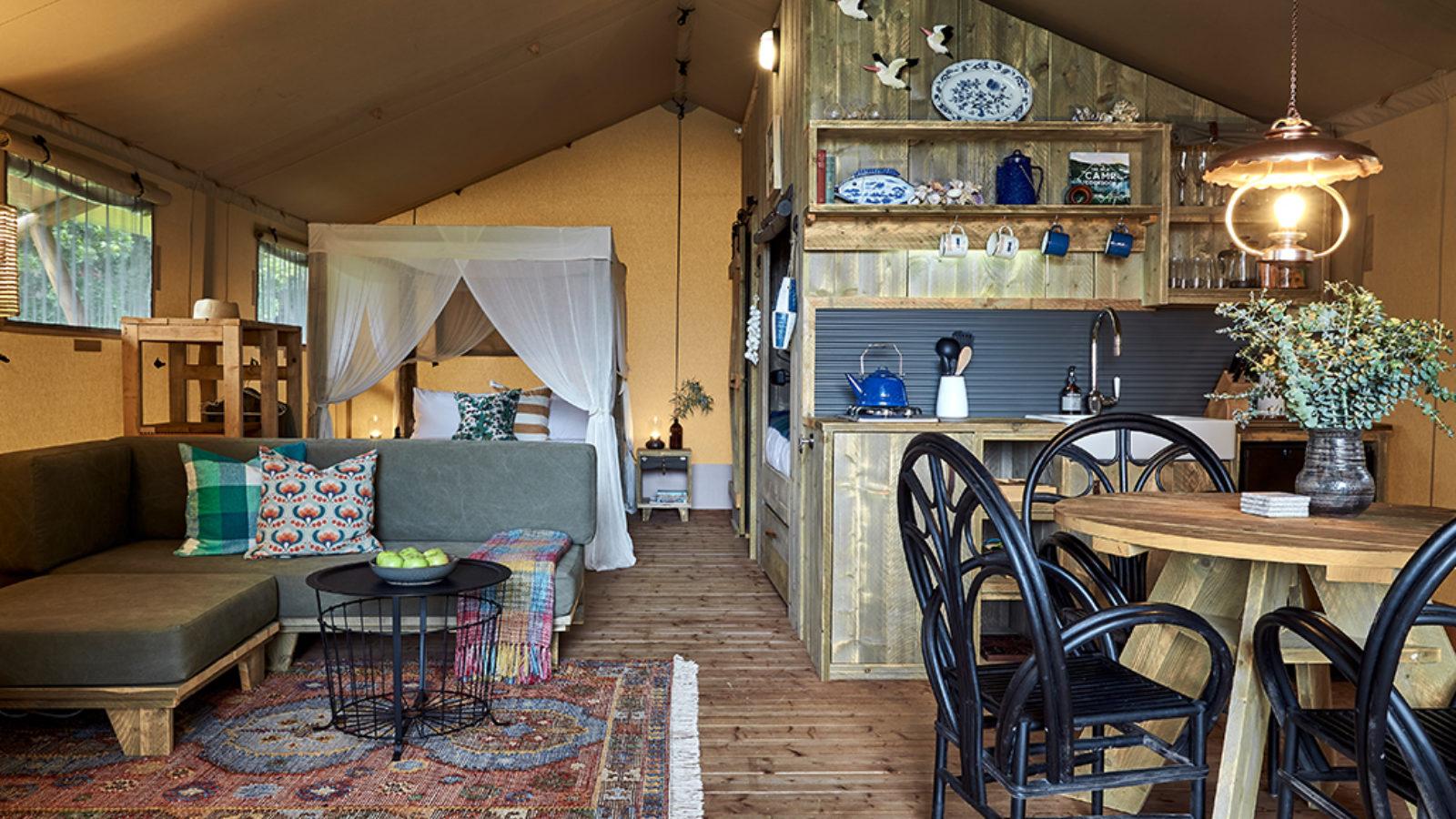 Myall River Camp glamping interior