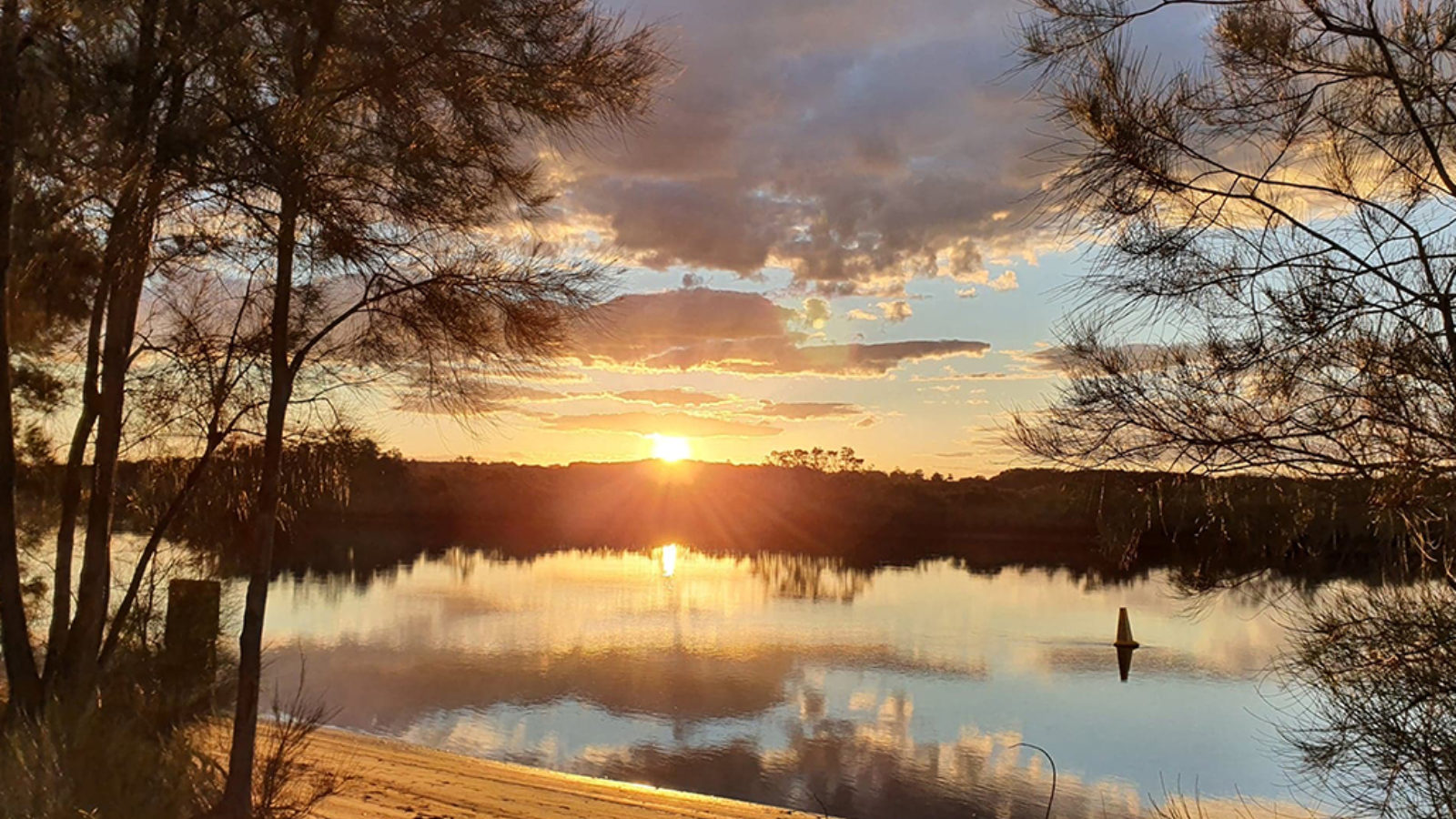 Myall River Camp river sunset