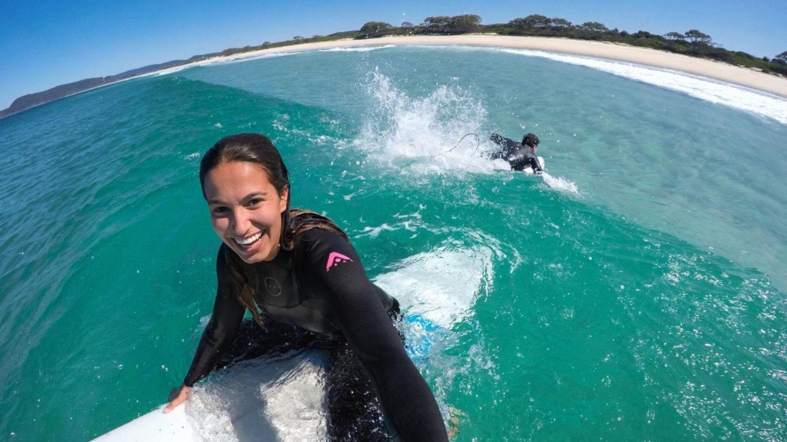Seven Mile Beach, Forster surfing