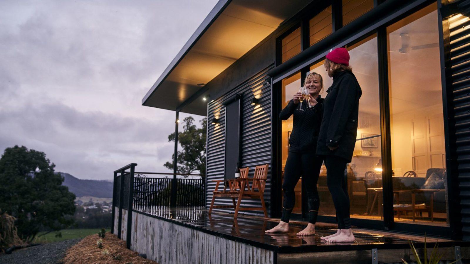 The Ridge Eco cabin deck