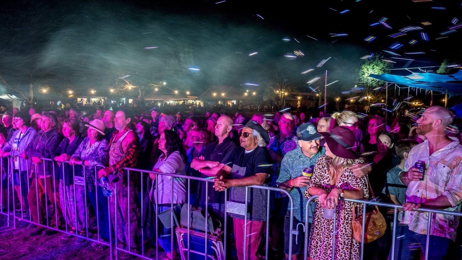 Wingham Akoostik Music Festival at night