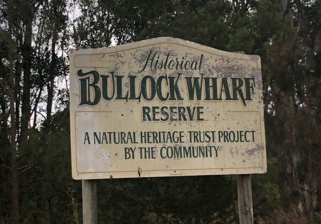 Bullock wharf signage