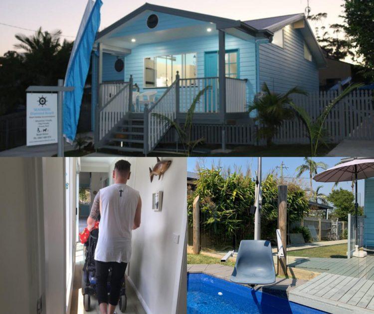 Seafarers Diamond Beach accessible accommodation barrington coast nsw