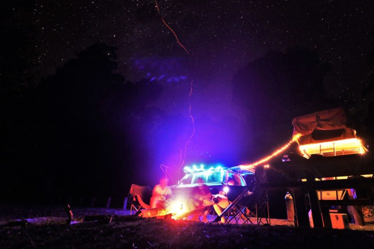 Dingo Tops Campground, Tapin Tops National Park, camping under the stars