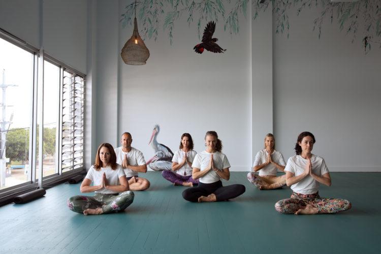 Forster Yoga Studio group of yogis