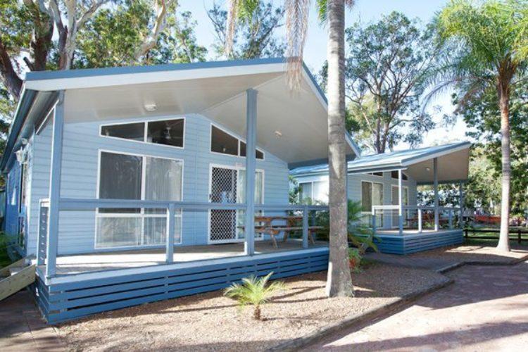 Reflections Holiday Park Jimmys Beach Hakws Nest NSW dog friendly accommodation