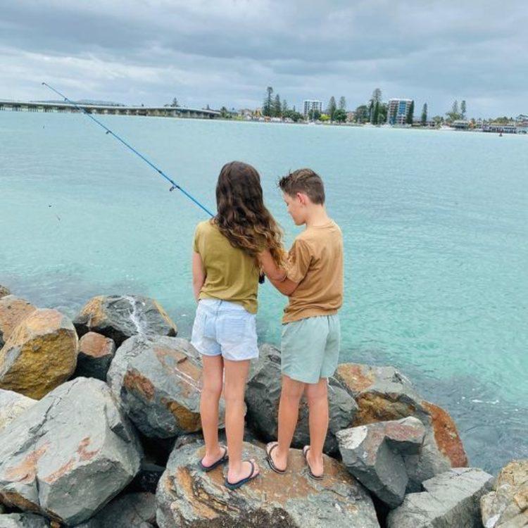 Reflections Holiday Park Tuncurry - fishing on Wallis lake (photo by @6inavanaroundoz)