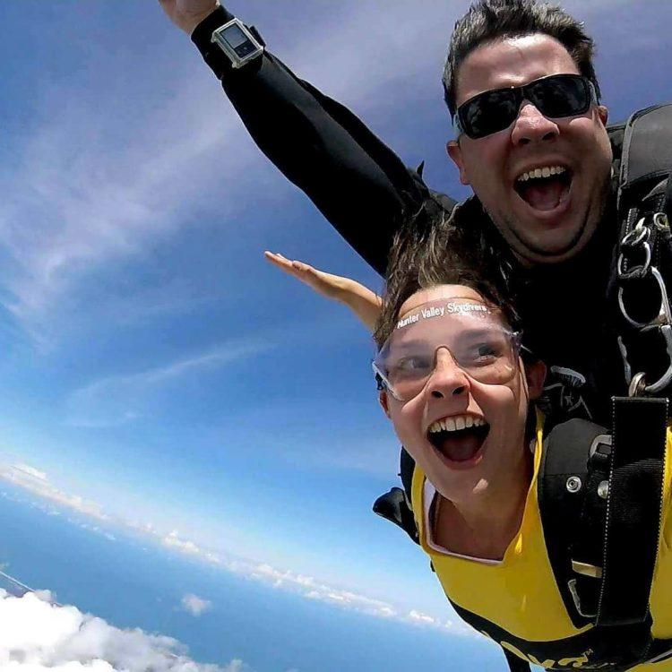 Skydive NSW Drop Zone Taree freefall tandem dive