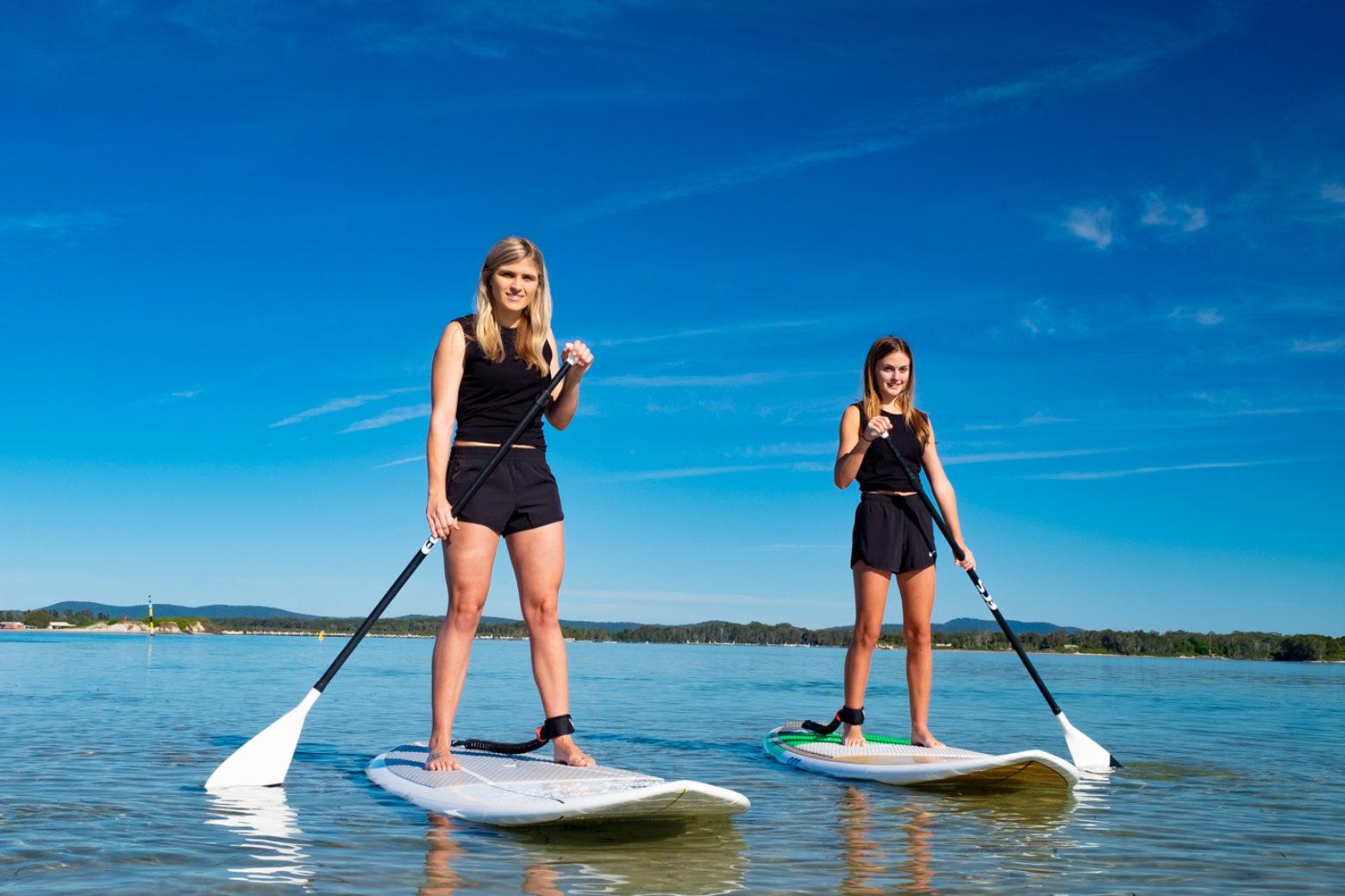 Stand up paddle boarding on Wallis Lake (photo by Jungle Surf)