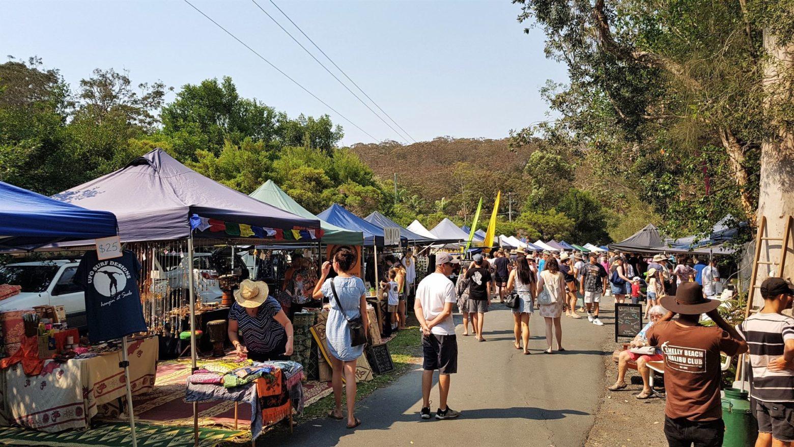 Pacific Palms Market stalls